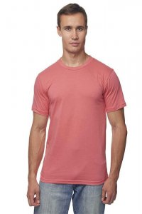 Royal Apparel Unisex Organic Short Sleeved T Shirt Coral 5051ORG