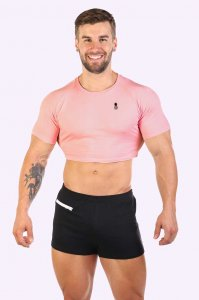 JJ Malibu Signature JJ Crop Top Short Sleeved T Shirt Cotton...