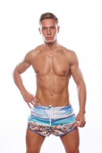 Marcuse California Shorts Beach Blue