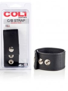 Colt Leather Adjustable Double Wide C Ring Underwear Accesso...