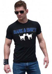 Ajaxx63 Bark & Sniff Athletic Fit Short Sleeved T Shirt Black AS102
