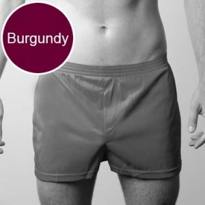 Players Nylon Tricot Boxer Underwear Burgundy