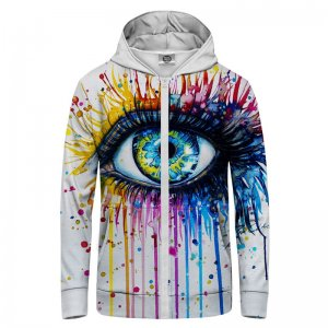 Mr. Gugu & Miss Go Fullprint Unisex Zip Up Hoodie H-PC678