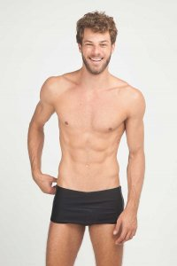 Blue Man Army Fernandes Square Cut Trunk Swimwear Black