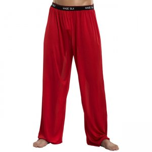 Magic Silk Silk Knit Lounge Pants Red 1886