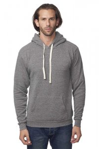 Royal Apparel Unisex Eco Triblend Fleece Pullover Hoody Long Sleeved Sweater Eco Tri Grey 37055