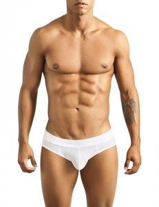 Pikante Ice Latin Texture Brief Underwear White 8633