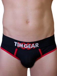 TIM Gear Contrast Trim Brief Underwear Black