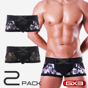 GX3 [2 Pack] Profession Army Trunk Underwear K250E