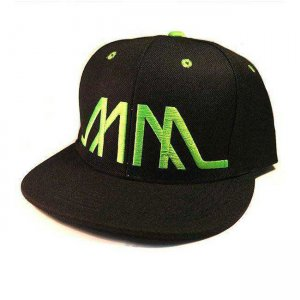 Marco Marco Embroidered MM Snapback Hat Green