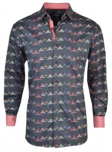 Spazio Racer Long Sleeved Shirt Black 54-3817