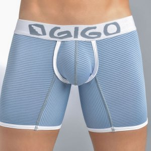 Gigo ROYE BLUE Long Boxer Underwear