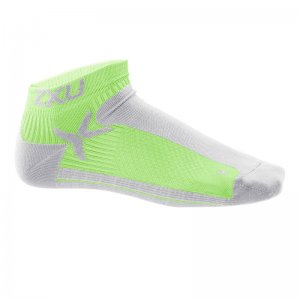 2XU Peformance Low Rise Socks Concrete Grey/Neon Lime MQ1903...