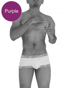 Icker Sea Fresh Dots Logo Trim Boxer Brief Underwear Purple COI-14-FD-02