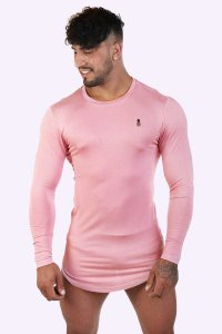 JJ Malibu Essential Long Sleeved T Shirt Blush JJTOP034