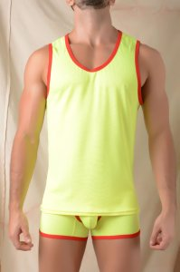 Gigo SIMPLE YELLOW Tank Top T Shirt