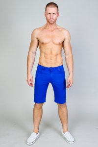 Timoteo Hermosa Knee Length Shorts Royal Blue 1231