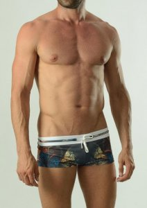 Geronimo Square Cut Trunk Swimwear Yellow 1624B2-2
