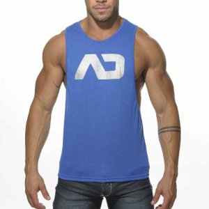 Addicted AD Low Rider Tank Top T Shirt Royal Blue AD043