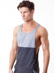 N2N Bodywear Slim Gym Tank Top T Shirt Charcoal/Grey SS1