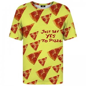 Mr. Gugu & Miss Go Yes To Pizza Unisex Short Sleeved T Shirt TSH586