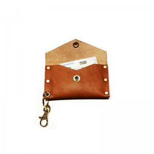 American Bench Craft Riveted Leather Key Chain Cardholder Sn...