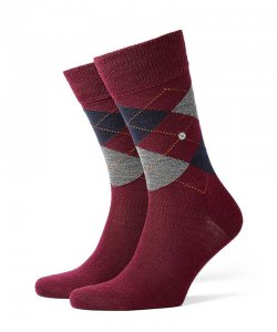 Burlington Edinburgh Socks Red 21182