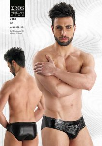Eros Veneziani Stripe Slip Brief Underwear Black 7164