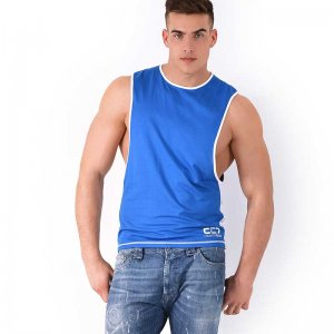 Roberto Lucca CC7 Large Armhole Muscle Top T Shirt Blue 70241-22010