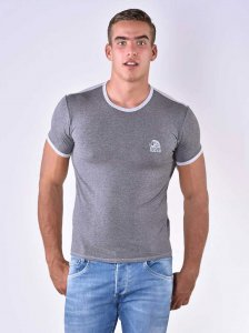 Roberto Lucca Contrast Slim Fit Short Sleeved T Shirt Grey M...