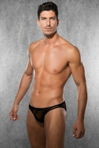Doreanse Sheer Floral Brief Underwear Black 1367