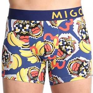MIGO Redlips Boxer Brief Underwear Blue