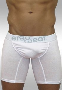 Ergowear Feel Classic Midcut Long Boxer Brief Underwear Whit...