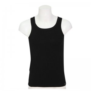 Minerva Tencel Vest Muscle Top T Shirt Black 11076