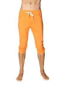 4-rth Cuffed Yoga 3/4 Pants Solid Sun Orange