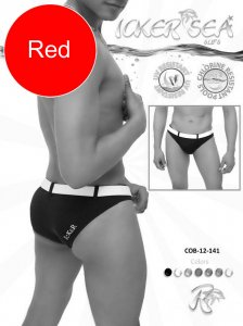 Icker Sea Sailor Belted Slip Bikini Swimwear Red/White COB-12-141
