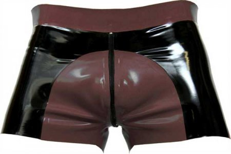 Mister B Rubber Saddle Shorts Brown 313740