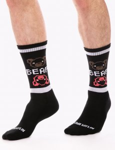 Barcode Berlin Big Bear Gym Socks Black/White 91630-101