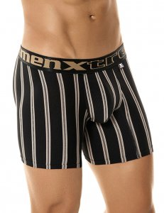 Xtremen Athleto Stripe Microfiber Boxer Brief Underwear Black 51345