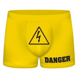 Shots Media Danger Funny Boxer Brief Underwear SLI051