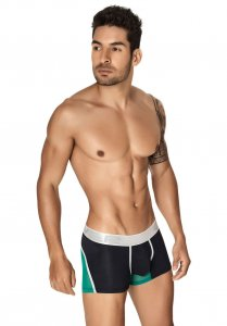 Clever Boreal Boxer Brief Underwear Black/Green 2199