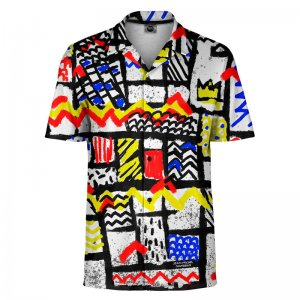 Mr. Gugu & Miss Go Mondrian Short Sleeved Shirt SH-SHT1409
