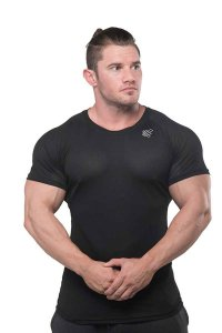 Jed North Spear Mesh Workout Short Sleeved T Shirt Black