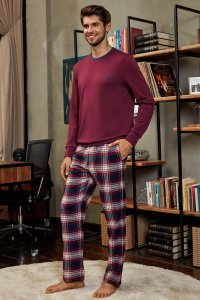 Doreanse Elbow Patch Sweater & Plaid Pants Set Loungewear 45...