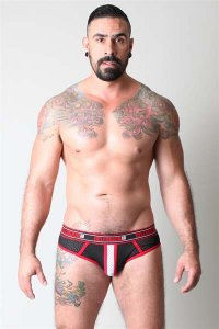 CellBlock 13 Alpha Jock Brief Jock Strap Underwear Red CBU051