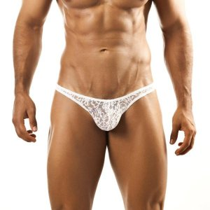 Joe Snyder Bulge Thong BUL02 Lace White Underwear
