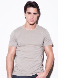 N2N Bodywear Basic Short Sleeved T Shirt Putty BC2