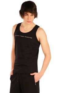 Litex Riders Tank Top T Shirt Black J1024