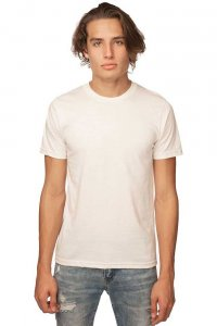 Royal Apparel Unisex Organic Short Sleeved T Shirt Natural 5051ORG