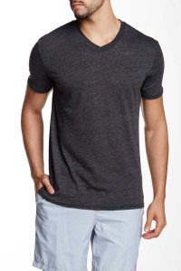 Mr.Swim The Casual V Neck Short Sleeved T Shirt Heather Black